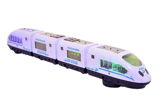 Speed White Electric Train Lights Children/Kids Play Toy image 2