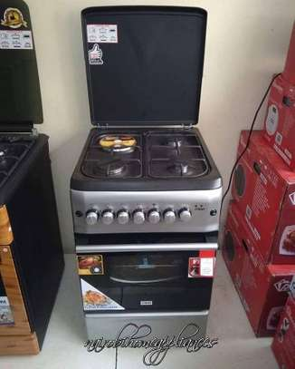 Mika 50*55cm, 3 Gas + 1 Electric Silver Cooker
