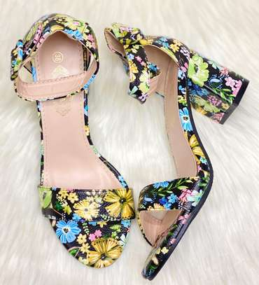 Floral Chunky heels image 5