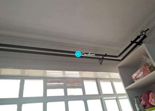 two metre single curtain rods image 1