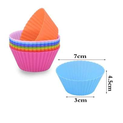12pcs re-usable silicone cupcake molds image 3