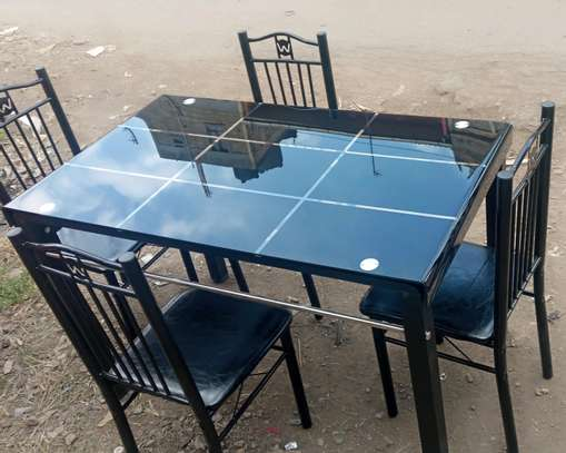 Dining table and four chairs with antinoise legs cover image 1