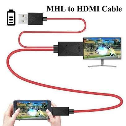 Generic MHL HDMI Adapter 1.8M Micro USB HDMI 1080P HD TV image 1