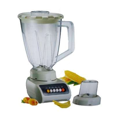 Elegant Blender with Grinder 1.5L – White image 1