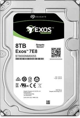 Seagate 8TB Exos 7E8 512e SATA III 3.5″ Internal HDD (ST8000NM0055) image 1