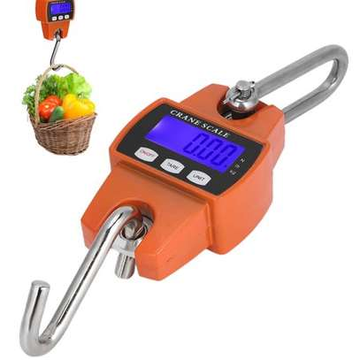 Hanging Scales,Digital Scale,300KG Industrial Crane Scale LCD Digital Electronic Hook Hanging Weight Scale for Large Luggage image 1