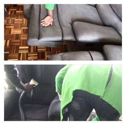 Sofa cleaning - Recliner cleaning, L shaped cleaning and sofa beds image 4