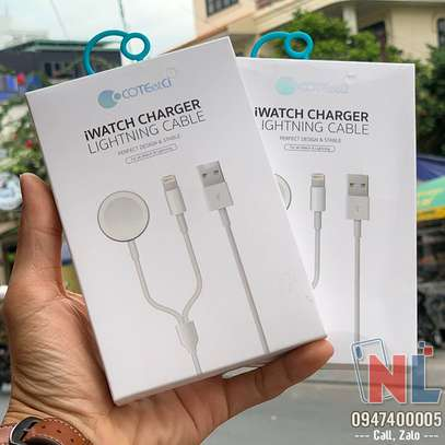 COTEetCI 2 In 1 iWatch Charger Lightning Cable image 1