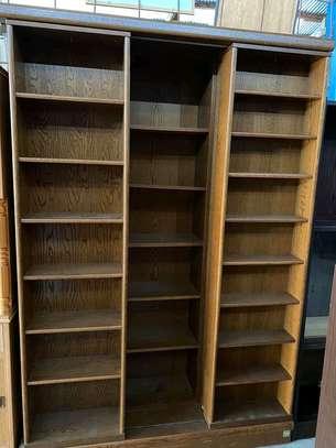 Wooden bookshelves image 1