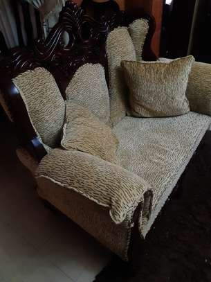 8-Seater Quality Mahogany Artic-Sofas For Sale. image 5
