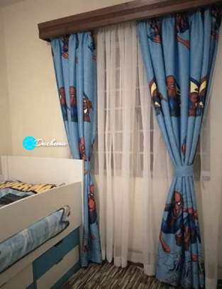 spider man cartoon themed curtains image 1