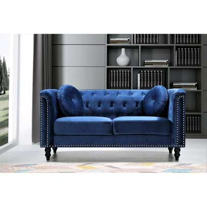 Latest three seater blue chesterfield sofas for sale in Nairobi Kenya image 1