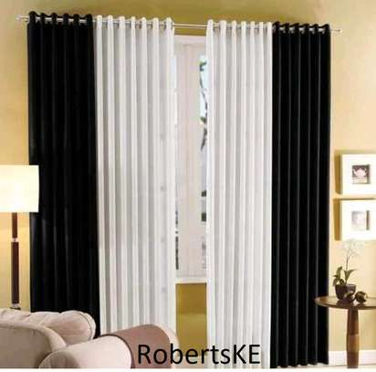 black and white polycotton curtain image 1