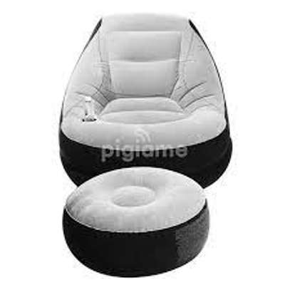 Multifunctional Inflatable Seat With Footrest +Pump-intex portable image 2