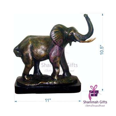 Elephant sculpture made in Kenya from bronze cast mold @ Kes.8,500 only! With a branded message on the base image 1