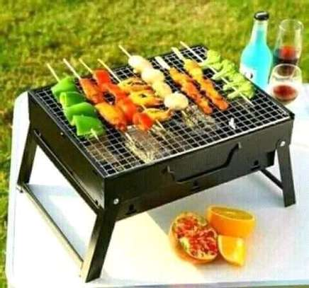 Foldable Portable barbecue charcoal grill image 1