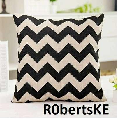 black and white zigzag throw pillows image 1