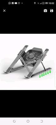 Portable laptop stand with fan image 1