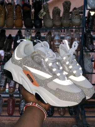 Silver metallic Dior B22 sneakers image 1