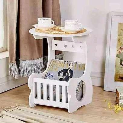 European white decorative/bedside/Coffee/Balcony/Living room table image 1