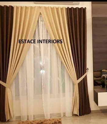BLENDED COLOURED CURTAINS image 1