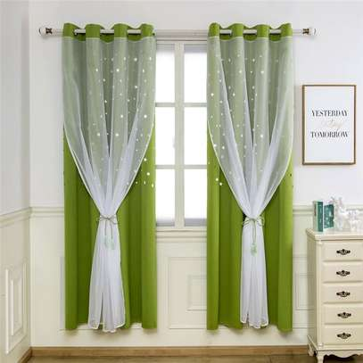 Curtains and matching curtain sheers image 5
