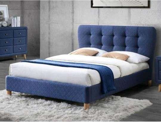 Blue tufted beds for sale in Nairobi Kenya/Beds Kenya/Quality beds for sale in Nairobi Kenya/Beds makers in Nairobi Kenya image 1