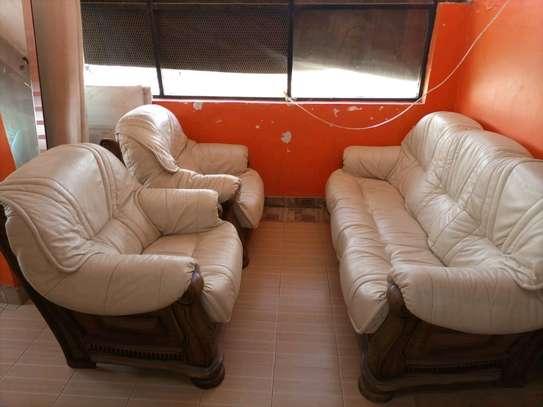 Genuine Ex UK Leather 5 seater sofa set image 1