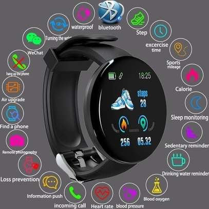 Fitness Tracker  with Heart Rate Blood Pressure Oxygen  Calorie  Waterproof  BLACK image 4