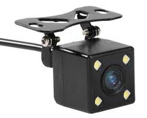 Universal Small Square rear view Backup Camera with night vision.