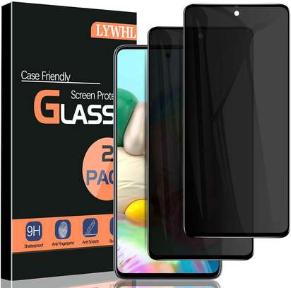 5D Privacy Anti-Spy Anti-Peep Full Glue Tempered Glass For Samsung A71 A51 A31 image 3
