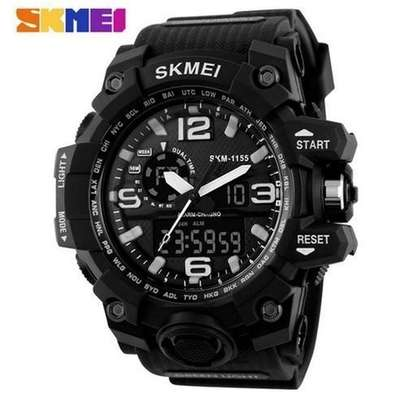 Skmei Waterproof Mens Sports Camouflage Compass Watch 1155 - Black
