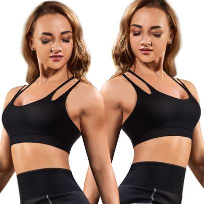 Padded Strappy Sports Bra Yoga Tops Activewear Workout Clothes for Women image 3