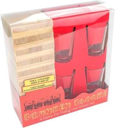 Adult Jenga Drunken Tower Drinking Games image 1