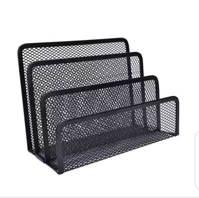 Metallic mesh table organizer image 4