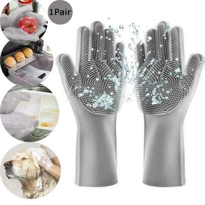 Multi-function Silicone Washing Gloves image 1