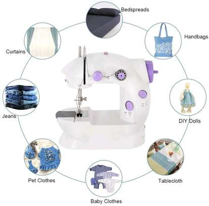 Mini Electric sewing machine with battery compartment image 1