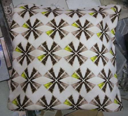 elegant fluffy throw pillow image 1
