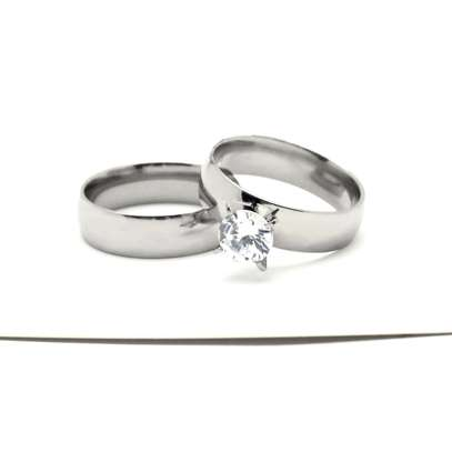 316L Stainless Steel Wedding/Engagement/Proposal/Anniversary Rings image 3