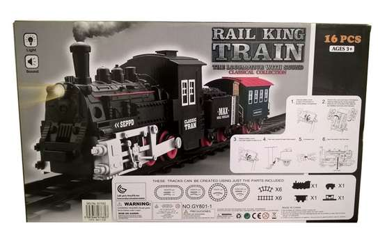 Classical Railway King  Battery Operated Locomotive Passenger Train Set Toy image 3