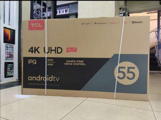 55 TCL Android UHD 4K television image 1