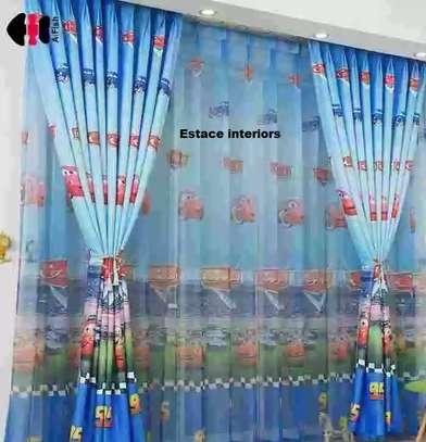 Cartooned curtains image 1