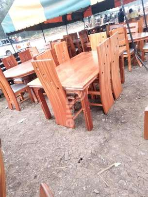 6 seater mahogany hardwood dining table