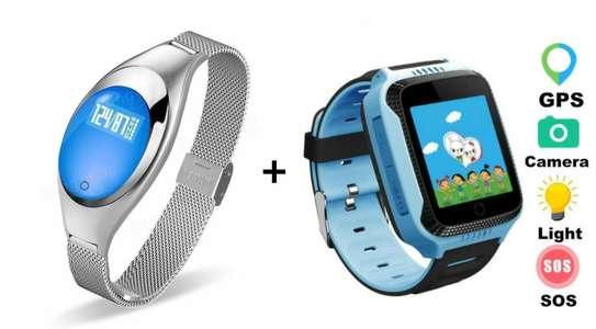 Smart bracelet plus FREE kids GPS smart watch combo