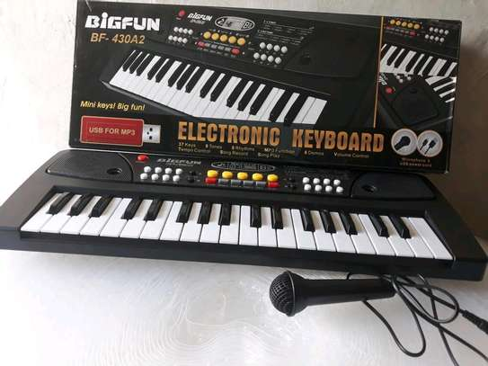 Kids 37keys piano keyboard with usb mp3 and microphone image 1