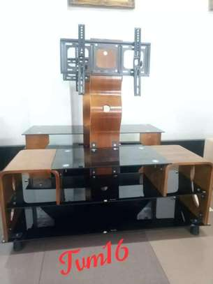Mountable TV Stand-Wooden and Steel image 1