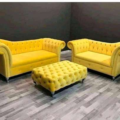 Elegant Timeless Quality 5 Seater Chesterfield Sofa +Ottoman image 1