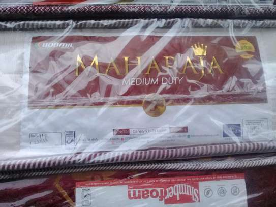 King Size / 6 by 6 Bobmil Maharajah 8 thick 5-Year Guarantee Quilted Mattress brand new image 2