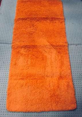 bedside mats orange color image 1