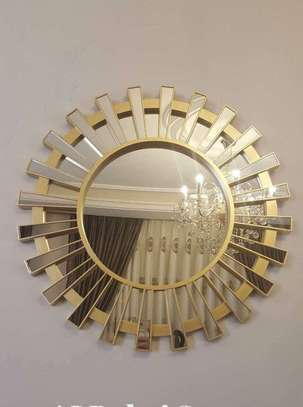 Golden bracket antique mirror